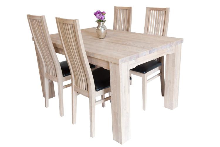 Lille egetræs spisebord   90x140cm i massiv egetræ   model paris