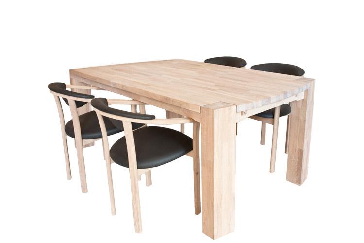Spisebord i egetræ 100 x 150cm   model barcelona