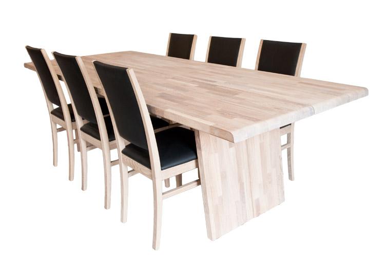 New York egetræs spisebord - 100 x 250cm i nyt og eksklusivt design.