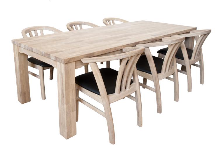 Paris egetræs spisebord 100 x 250cm i klasse a eg.