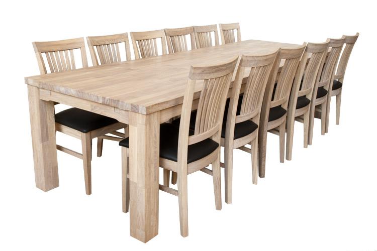 Paris langbord i massiv eg   100 cm x 300 cm i klasse a egetræ.