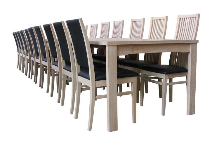 London spisebord i eg 100x220cm, kan blive op til 520cm med 6 plader